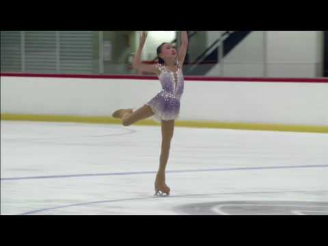 Angel Li 2017 Glacier Falls Summer Classic Intermediate FS Final Round 3rd place