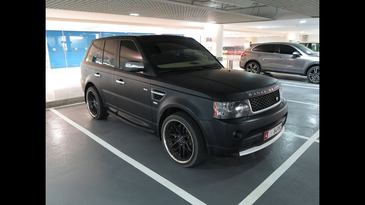 matte black Range Rover Autobiography Sport