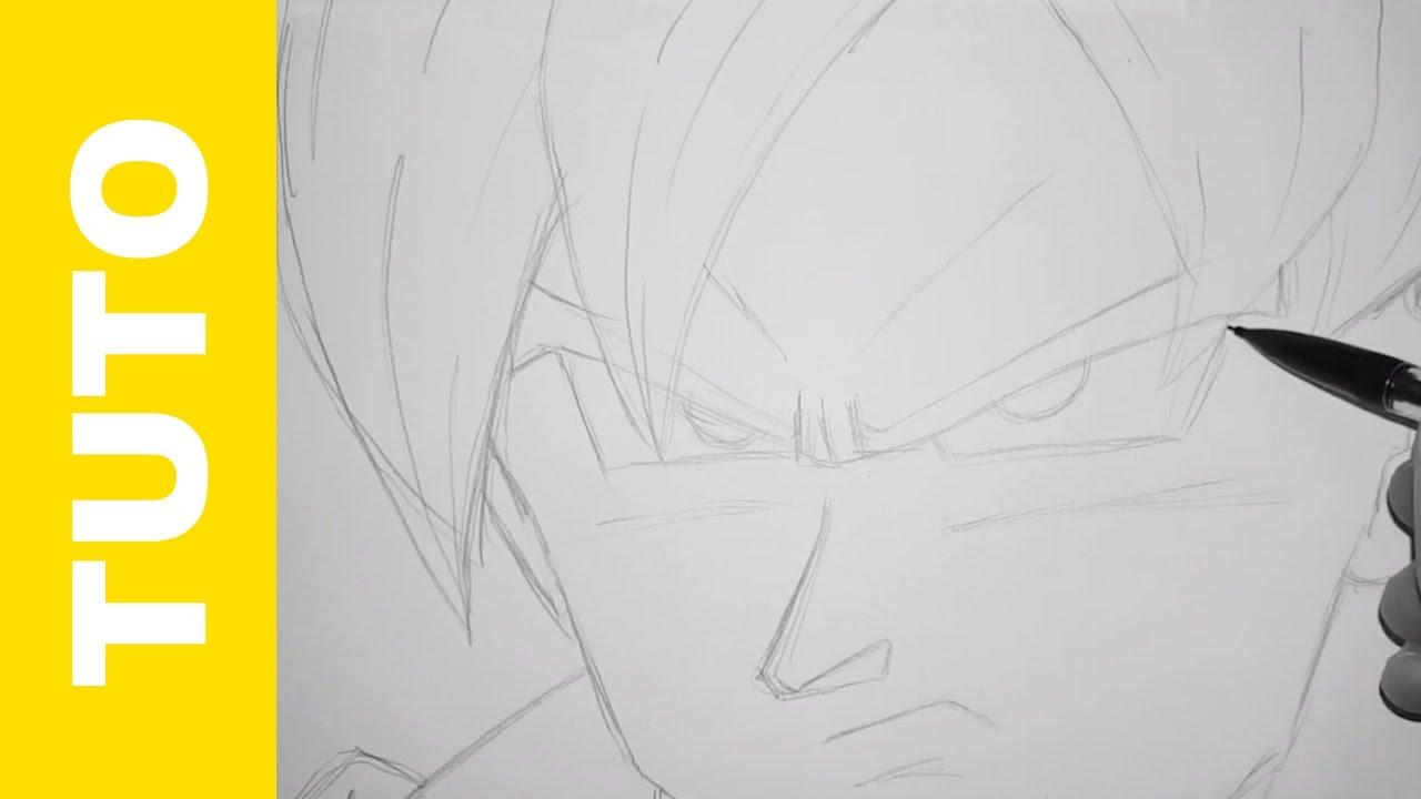 How To Draw Goku Ssj Dragon Ball Z Tutorial