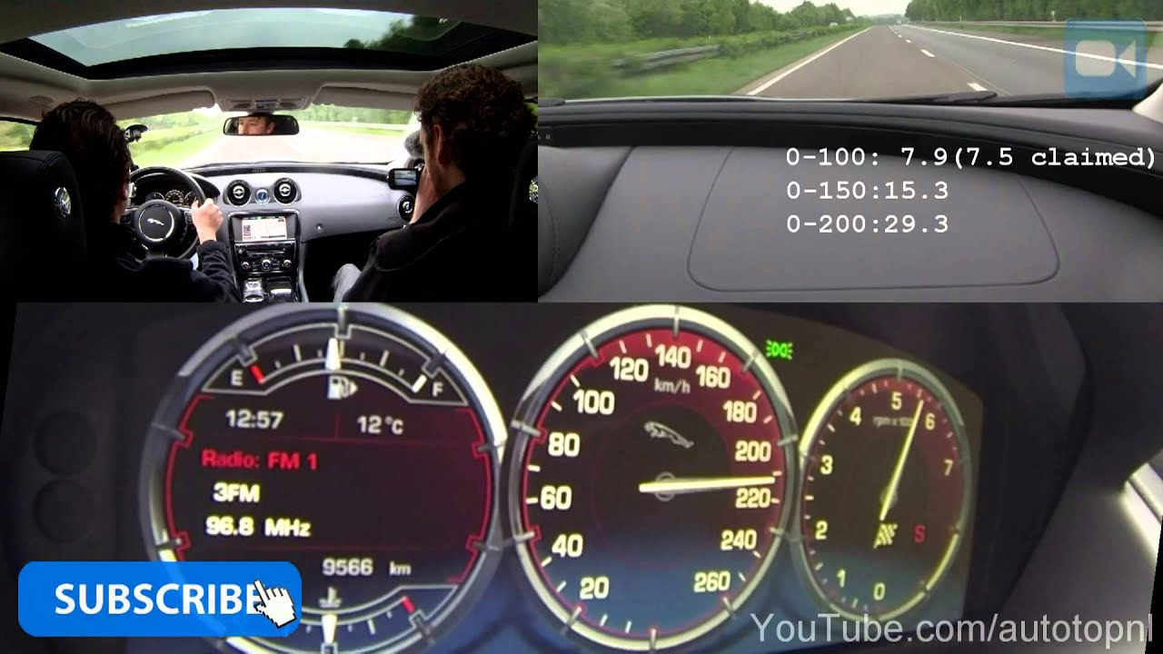 Jaguar XJ 2.0T 0-240 km/h NICE! Acceleration & Top Speed Run on ...