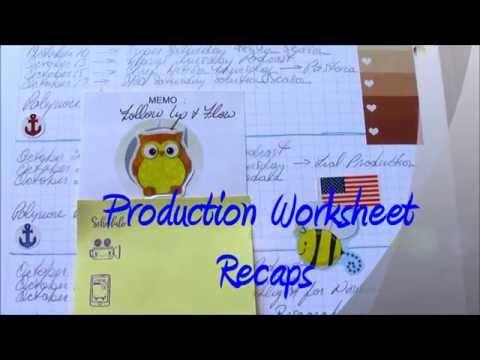 Production Worksheet Planner Designs