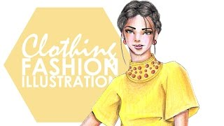 Fashion Illustration - Coloured Pencils: Clothing