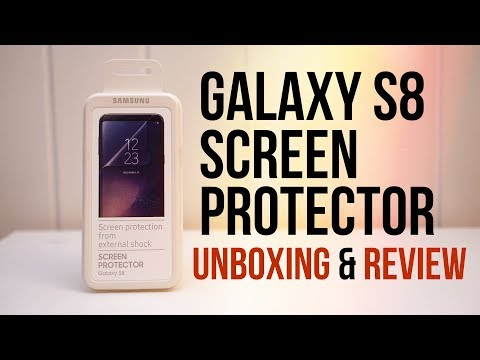 OFFICIAL GALAXY S8 SCREEN PROTECTOR UNBOXING & REVIEW