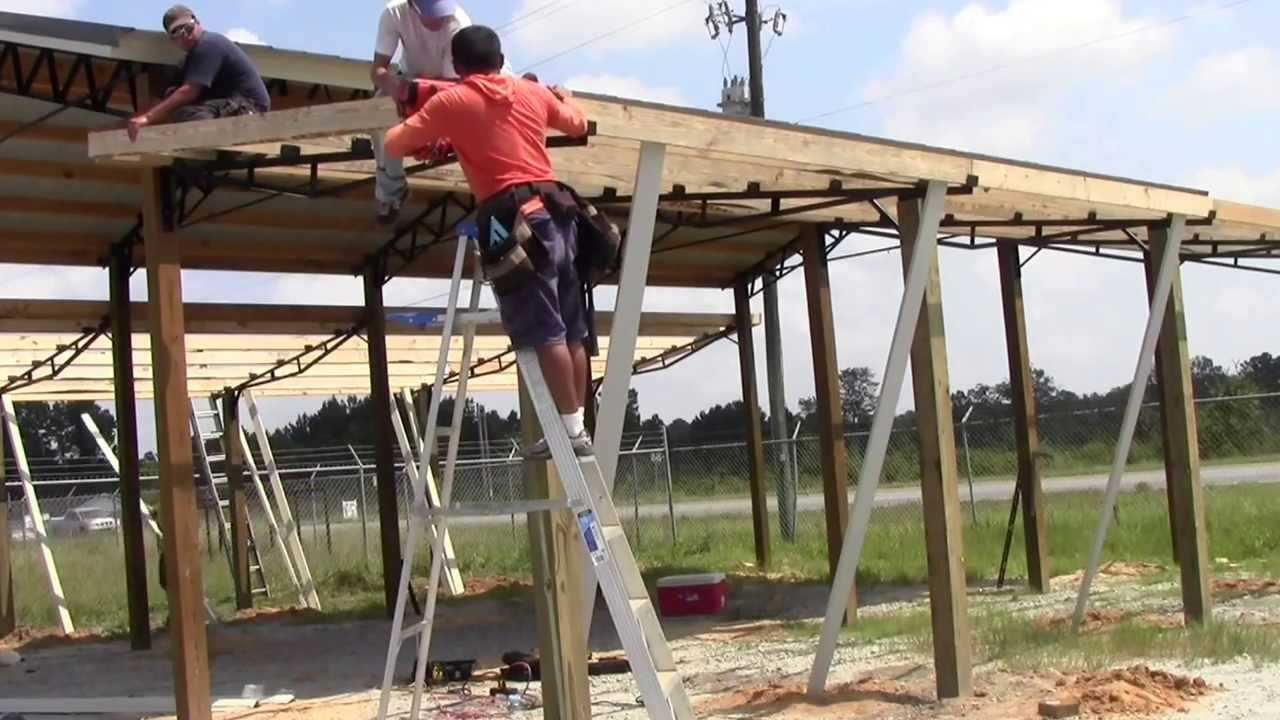How To Install Lean To's On A 20x40 Steel Truss Pole Barn Kit