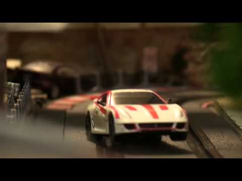 Carrera Digital 143 slot car track scenery 720p – Scenic Slot Racing Australia