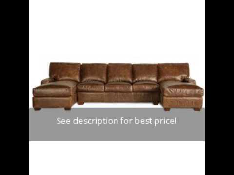 Restoration Vintage Leather Craftsman Fullgrain Sectional