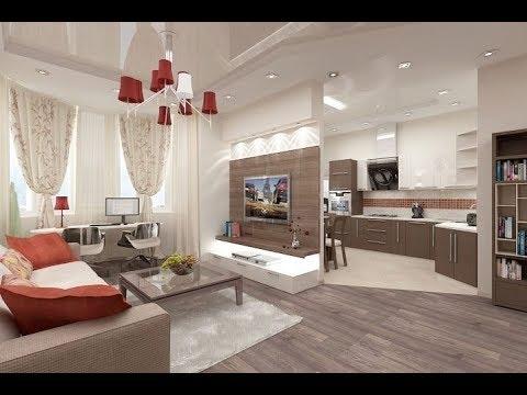 дизайн кухни гостиной 30 кв м 2018 Kitchen Design Living Room 30