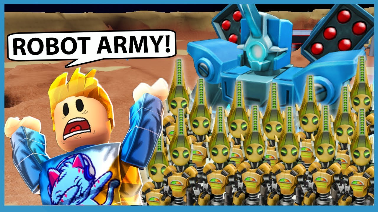 BUILDING A ROBOT ARMY TO MINE DIAMONDS IN SPACE! - Roblox Space Base Tycoon
