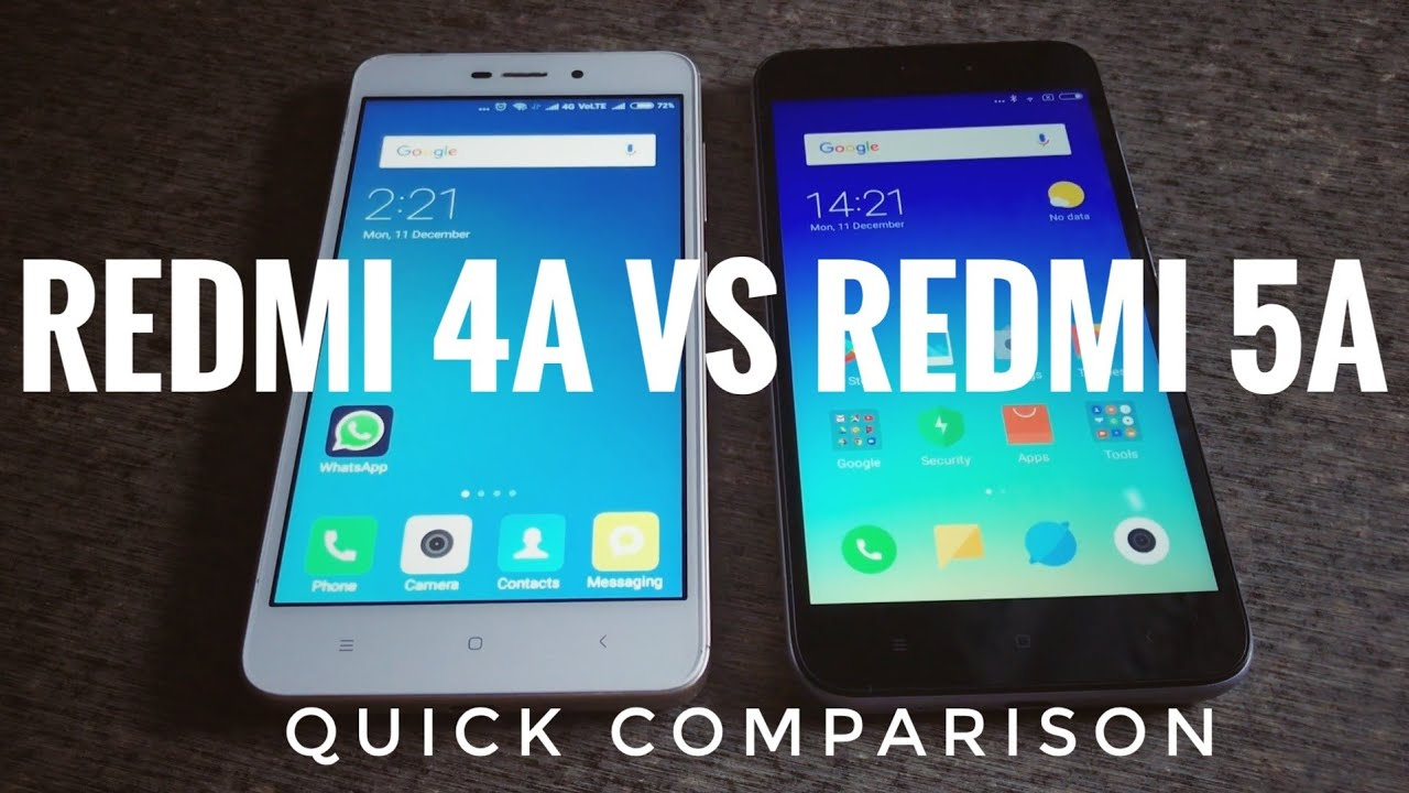 Redmi 5A vs Redmi 4A | Redmi 4A vs Redmi 5A Comparison with Camera ...