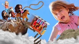 Adley Rescue Mission!! Riding with Spirit the Horse to save a friend! an untamed family adventure