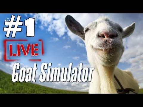 Goat Simulator Walkthrough Part 1 Gameplay Let's Play Playthrough HD