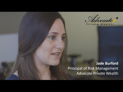 Jade Burford, Principal of Risk Management.  Advocate Private Wealth.
