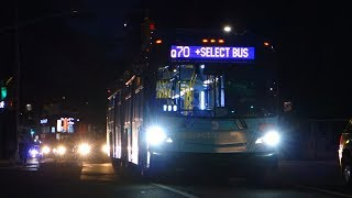 """MTA Bus Company 2016 New Flyer XD60 """"Xcelsior"""" Artic 5993 On The Q70 +Select Bus Service+"""