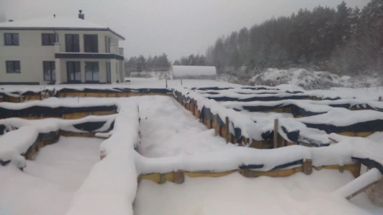 Фундамент зимой. Замёрз ли бетон?