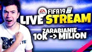 ???? ZARABIAMY od 10k do MILIONA! + Budowanie STARTERÓW | FIFA 19 stream - Na żywo