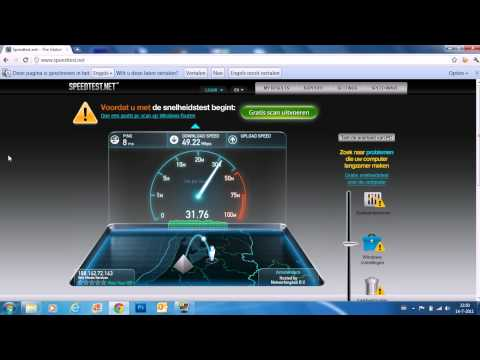 Superfast Optical fiber download / upload speedtest provider Lijbrandt 50mbit