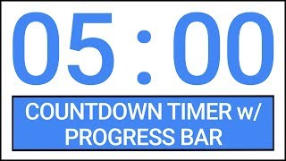 5 min Countdown Timer w/ Progress Bar #Timer #Countdown