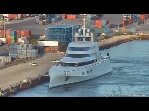 Motor Yacht 'A' Arrives at Port of Miami 05-14-2013