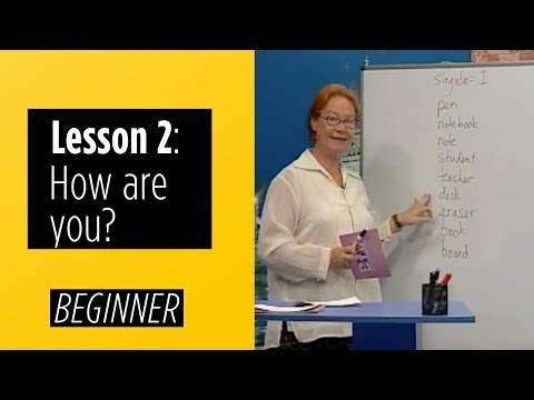 Beginner Levels - Lesson 2: How Are You?