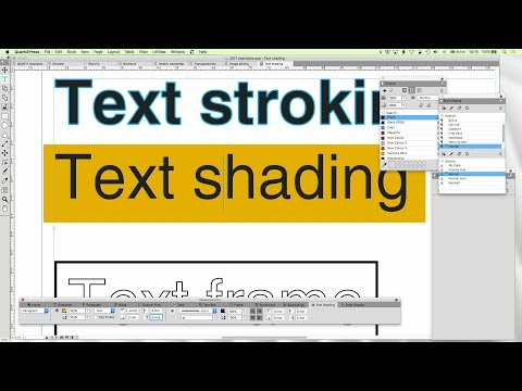 27 - DTP with QuarkXPress: Text stroking and framing