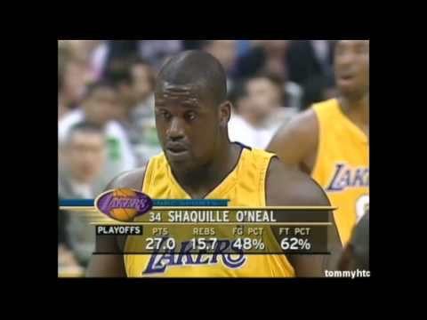 Shaq doing his best at the free throw line