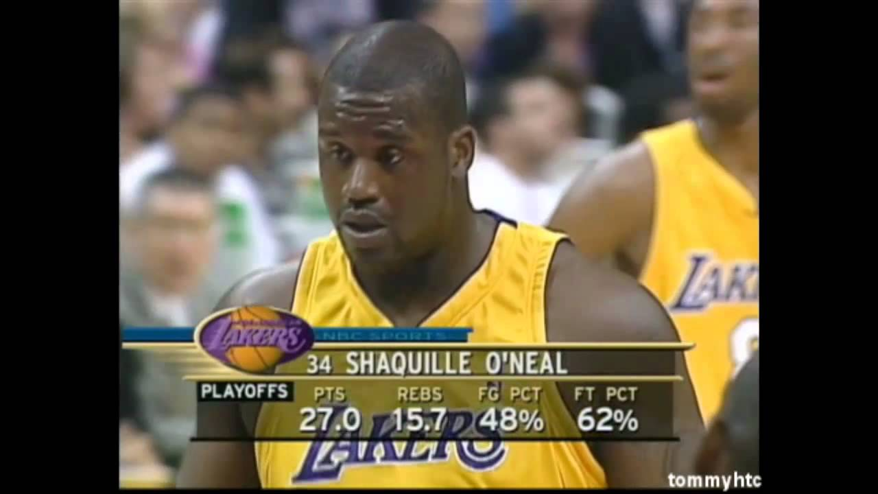 Shaq doing his best at the free throw line - YouTube