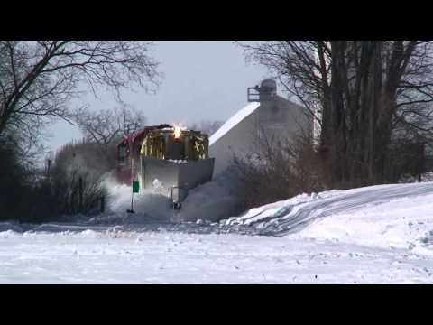 Thumbnail: WSOR Jordan Spreader plowing snow on the Fox Lake Sub, February 4, 2011