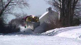 WSOR Jordan Spreader plowing snow on the Fox Lake Sub, February 4, 2011