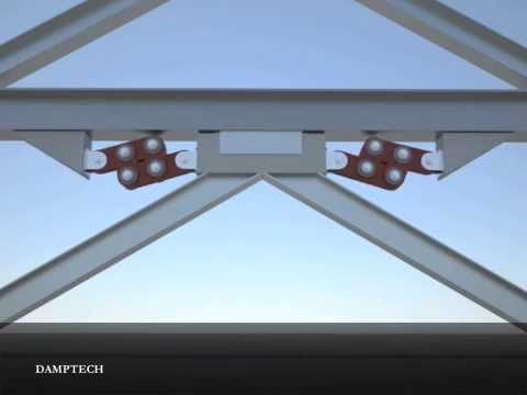 Seismic protection of the building using friction dampers with inverted V bracing