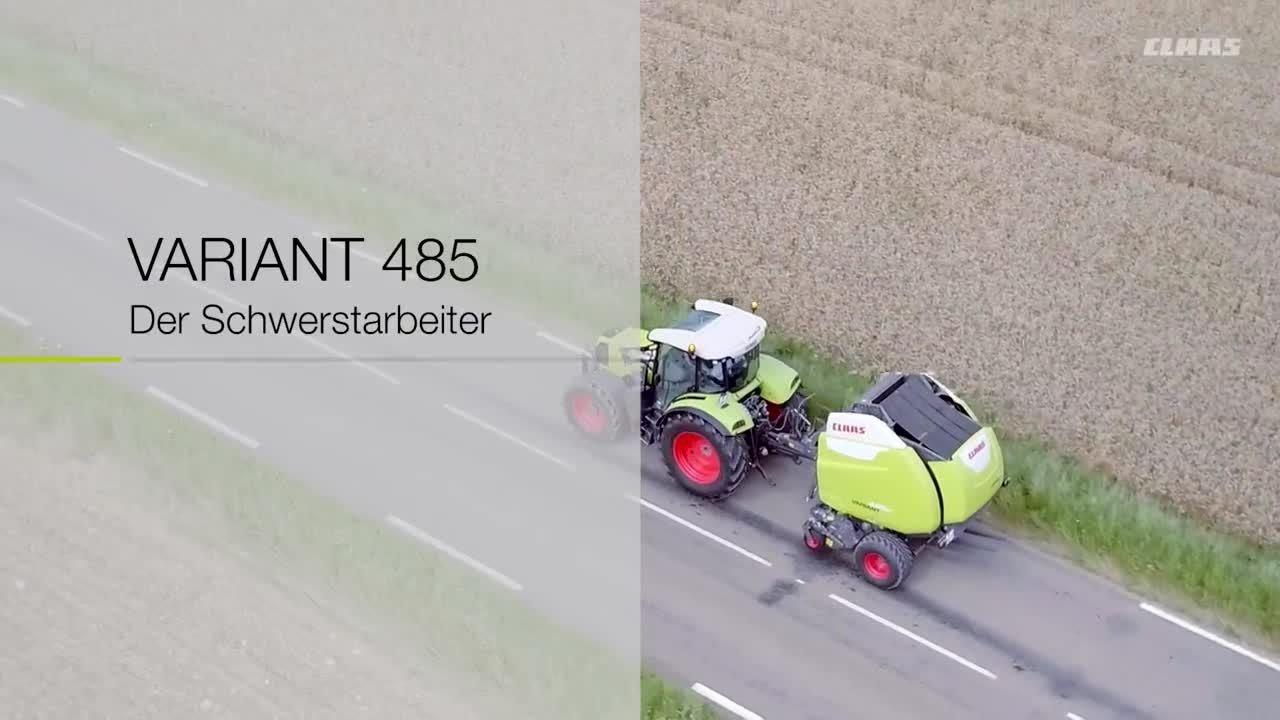 CLAAS VARIANT 485 Der Schwerstarbeiter / 2016 / de