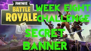 Fortnite Battle Royale - France Saison 5 Semaine 8 Challenge (fr) Guide de localisation Secret Banner