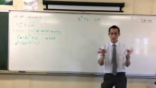 AM/GM Inequality (2 of 2: Algebraic Proof)