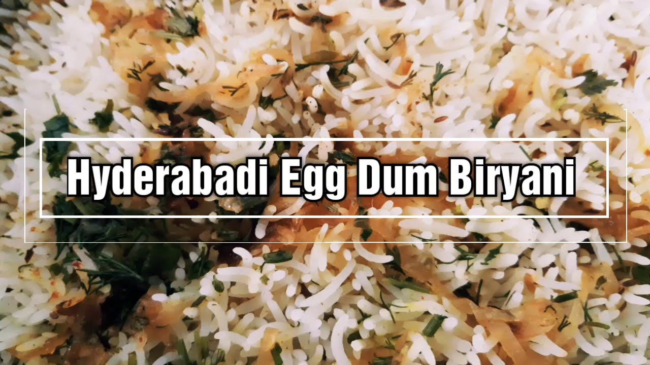 Hyderabadi Egg Dum Biryani (Eggs Inside) | After Cooking