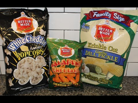 Better Made Special: White Cheddar Popcorn, Jalapeno Cheddars Cheese Puffs, Garlic Dill Pickle Chips