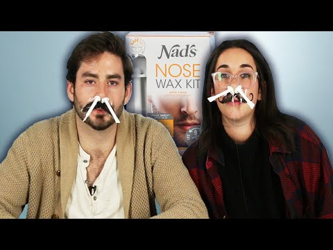 People Try Painless Nose Hair Waxing