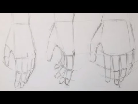 how to draw anime hands relaxed and fist youtube