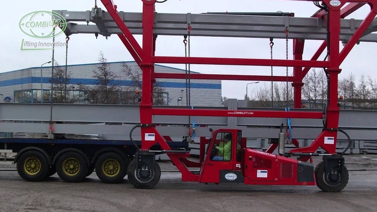 combilift straddle carrier combi sc at work in steel fabrication distribution youtube. Black Bedroom Furniture Sets. Home Design Ideas