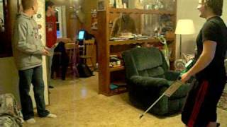 being shocked with a cattle prod