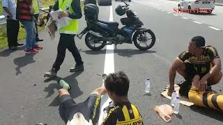 Four Malaysian para cyclists injured as pickup truck rams into them in hit-and-run
