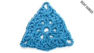 The Samosa Motif :: Crochet Stitch #337 :: Right Handed