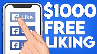 Earn $1,000 Liking Facebook Posts (FREE Make Money Online)