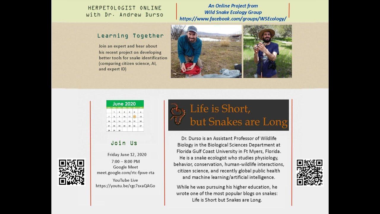 Download Herpetologist Online with Andrew Durso (June 12, 2020)