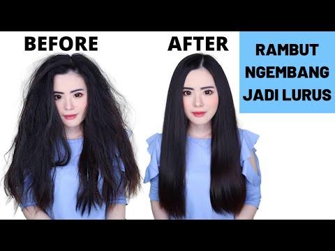 Cara Meluruskan Rambut Mengembang Secara Alami Hasilnya Permanen Youtube