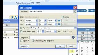 ReminderFox 1 - Overview