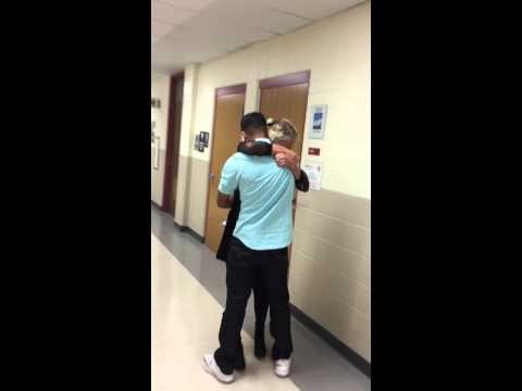 Marine surprises His Girlfriend in the middle of her Math class!!