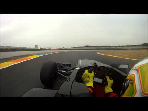 Ross Gunn drives a BRDC Formula Four around the Valencia track.