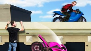 Rooftop Motorcycle Obstacle Course Challenge! | GTA5
