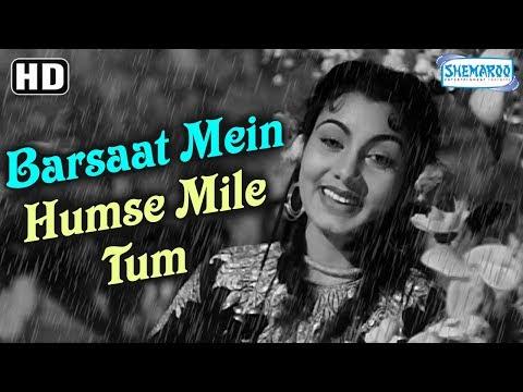 Best Rain Romantic Hindi Song  Barsaat Mein Tumse Mile HD Barsaat 1949 Raj Kapoor  Nargis