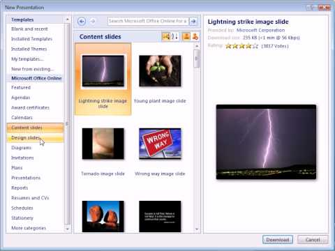 Powerpoint 2007 start with a template youtube powerpoint 2007 start with a template toneelgroepblik Images