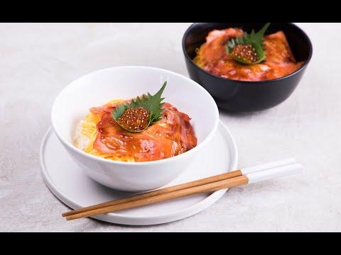ข้าวหน้าแซลมอนรมควันเทริยากิ Teriyaki Smoked Salmon Rice - วันที่ 10 Jun 2019